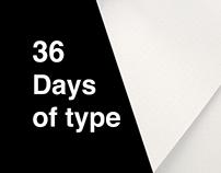 36 Days of type - 2019