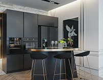Apartment luxury grey
