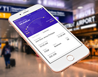 Flight Ticket App Interface Design