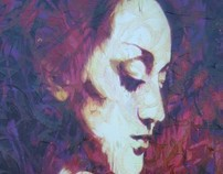 WOMAN PORTRAIT RED GRAFEENEY ORIGINAL GRAFFITI CANVAS
