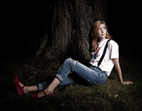 Kelsey under the Tree