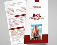 Carlton Plaza Hotel - Cardápio