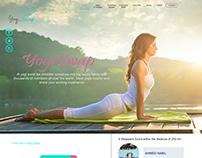YogiSwab web Design about yoga