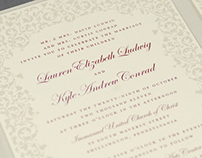 L & K Wedding Invitation