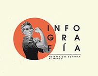 """Infografía """"Mujeres que dominan al mundo"""""""