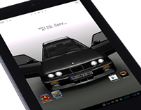 BMW E30 Android Interactive Live Wallpaper