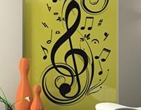 Clef Music Sticker