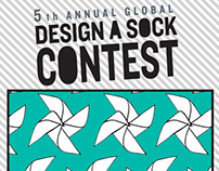 DESIGN A SOCK CONTEST 2013 - My 5 design submissions