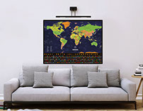 Scratch Off Detailed World Map Poster