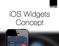 iOS Widgets Concept