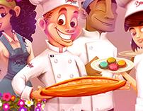 Bounjour Gourmet - Characters