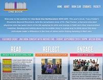 One Book Website Design (Mockup)