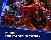 Preroll for esport network
