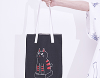 Tora No Neko Denim tote bag 2017