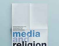 """media and religion"" poster"