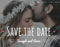 HTML Wedding template
