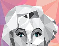 Vector Geometrical Illustration Marilyn