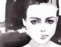 Helena Bonham Carter Illustration