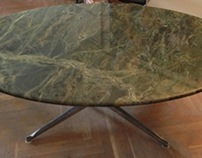 Konferenztisch aus hochwertigem Granit Verde Karzai