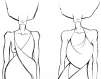 Sail dress sketches