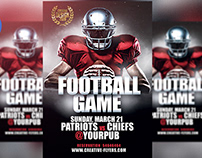 Free Football Game PSD Flyer Templates