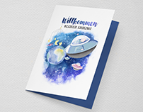 Baby Card 'Welcome little Earthling'