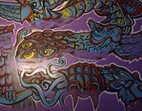 Purple Haze mural