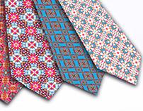 Tie design whit Geometric-flower pattern