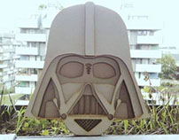 Darth Vader Lasercut – Wood