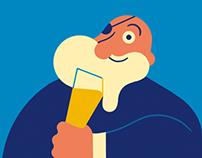 Urthel beer label - La semaine illustrée