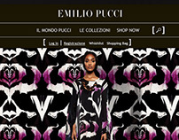 Emilio Pucci's website restyling