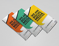 Social media marketing trifold brochure design template