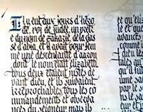Bible book copying - Practice