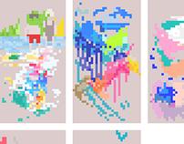 Pixelated Sketchbook Animations