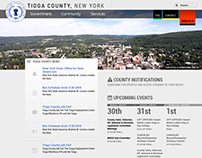 Tioga County - web design