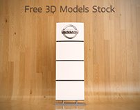 Commercial Stand Totem Free 3D Model
