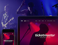 Ticketmaster. Concept redesign.