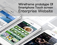 Wireframe prototype Of Mobile Website