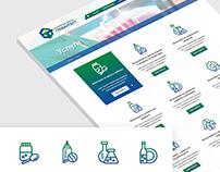 Testing Center Globaltest Website design