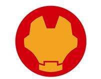 Super Heróis - Minimalismo