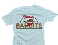 TX Bandits Little League T-shirt / Logo Mockup