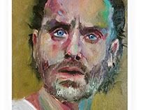 Portrait of Andrew Lincoln as 'Rick Grimes'