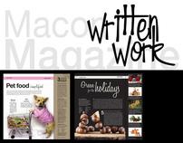 Macon Magazine: Written Work