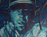 PIMP PORTRAIT GRAFEENEY ORIGINAL GRAFFITI CANVAS (COP