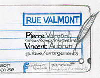 "RUE VALMONT - carte de visite / ""business"" card"