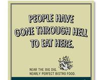 Restaurant ad campaign