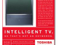 Toshiba TV print campaign