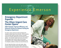Emerson Hospital newsletter/direct mailer