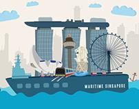 Illustration for Singapore Maritime Week