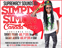Dj Simple Simon Canada Tour Poster